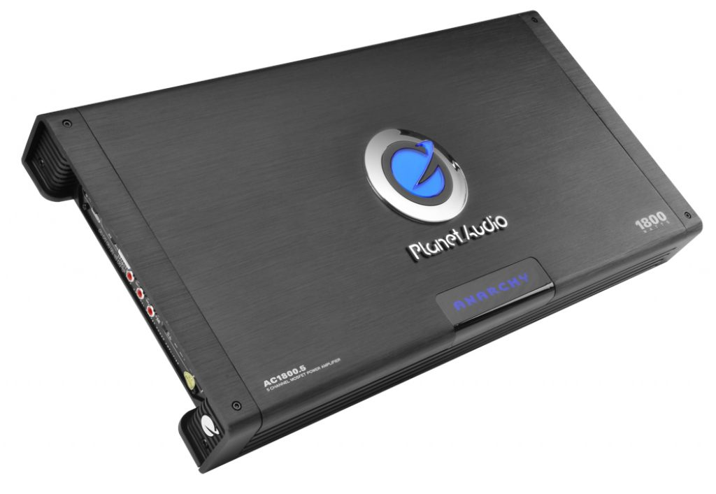 Planet Audio AC1800 5 ANARCHY 1800 Watt Full Range Class A B 2 to 8 Ohm Stable 5 Channel Amplifier with Remote Subwoofer Level Control