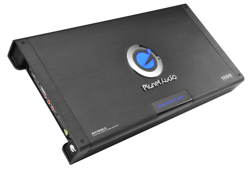 Planet Audio AC1800.5 ANARCHY 1800-Watt Full Range Class A/B 2 to 8 Ohm Stable 5 Channel Amplifier with Remote Subwoofer Level Control