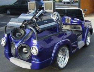 golf cart with amps