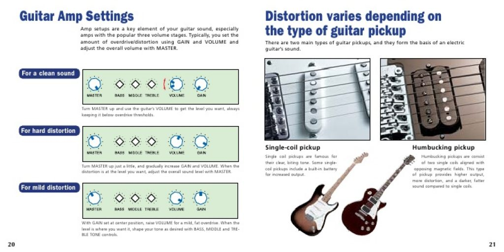 setting to tune a guitar amplifier