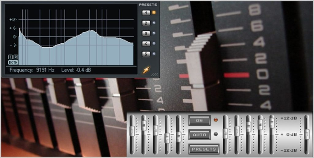 images of an equalizer in action