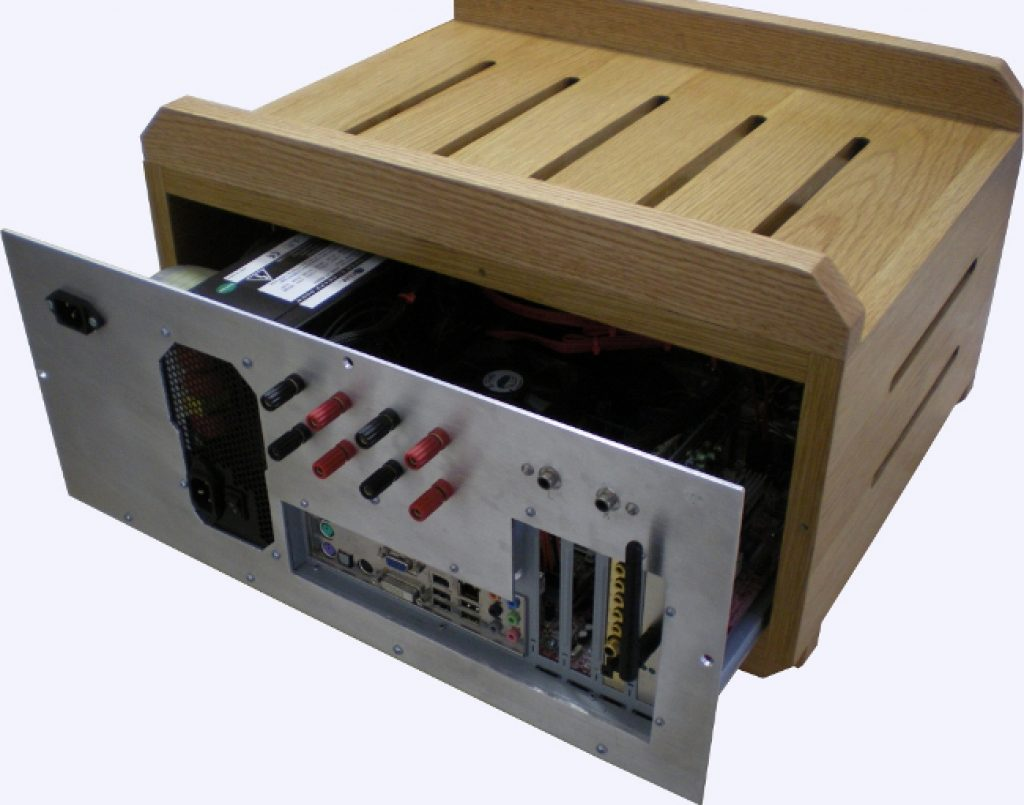 image of brown and black amp casing